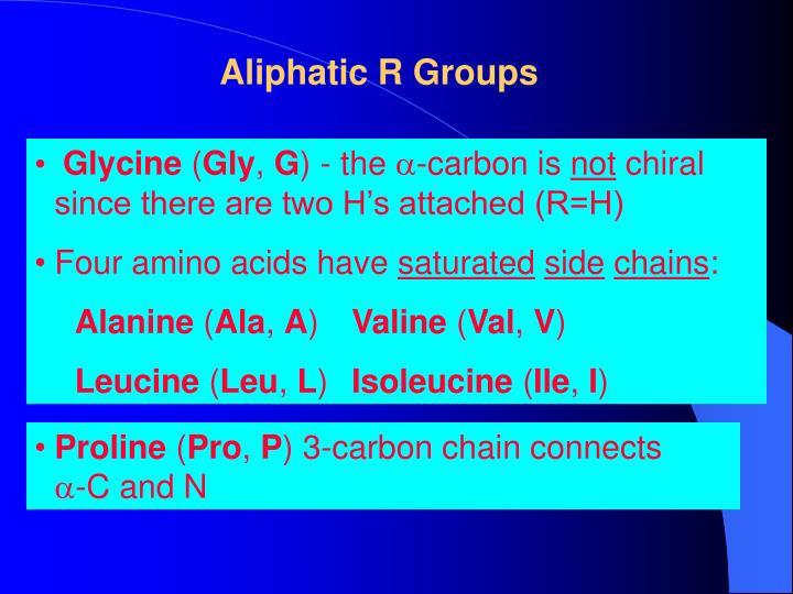 Aliphatic R Groups
