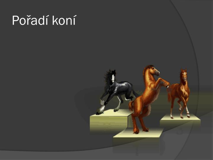Pořadí koní