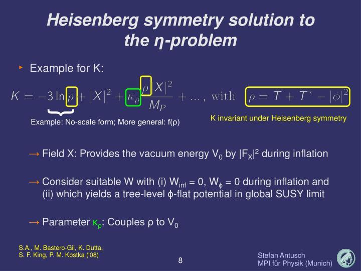 Heisenberg symmetry solution to