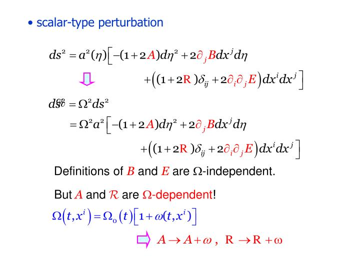 scalar-type perturbation