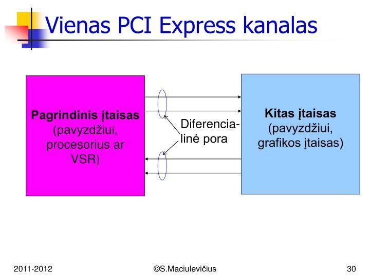 Vienas PCI Express kanalas