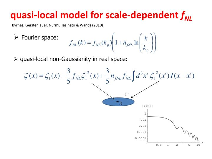 quasi-local model for scale-dependent