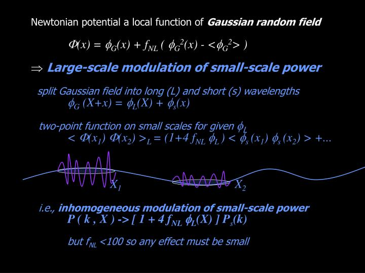 Newtonian potential a local function of