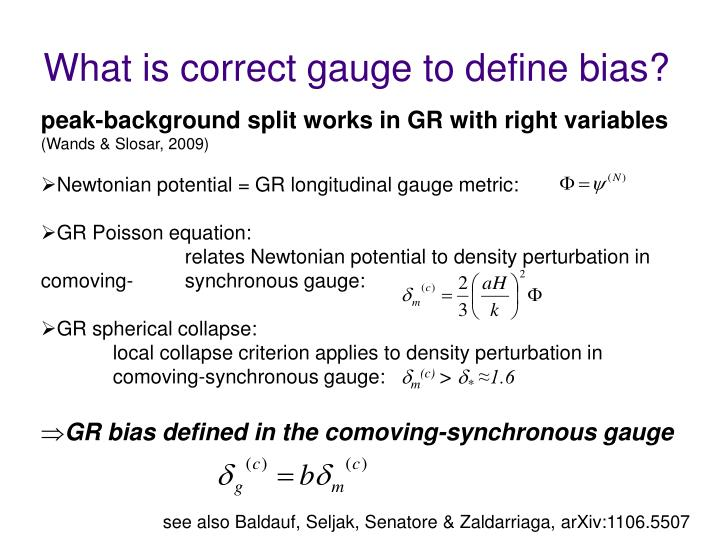 What is correct gauge to define bias?