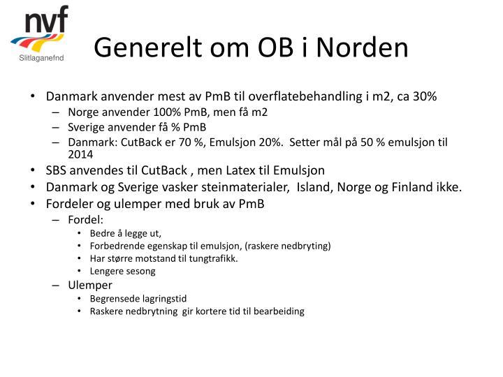 Generelt om OB i Norden