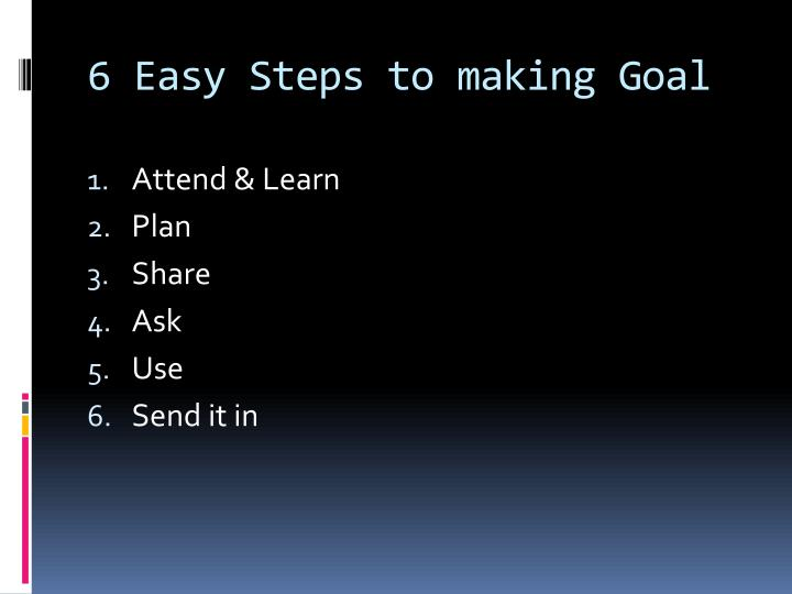 6 Easy Steps to making Goal