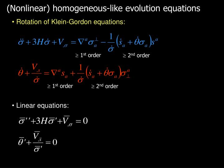 (Nonlinear) homogeneous-like evolution equations