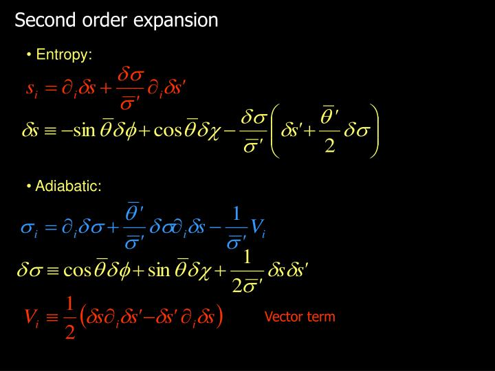 Second order expansion