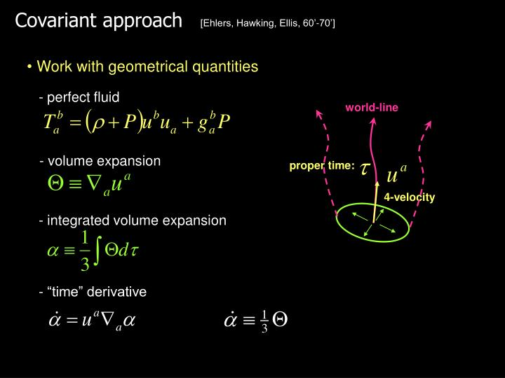Covariant approach