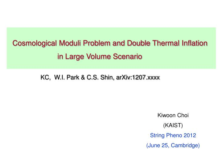 Cosmological Moduli Problem and Double
