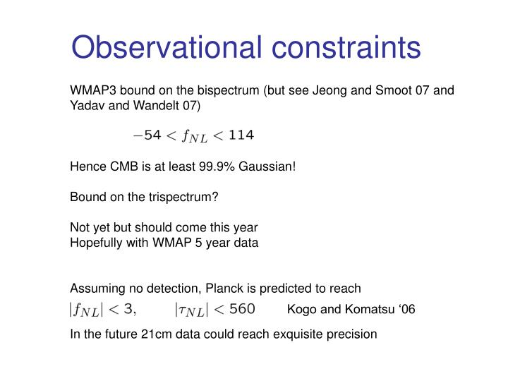 Observational constraints