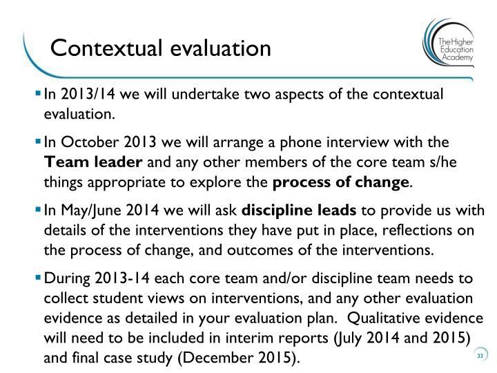 Contextual evaluation