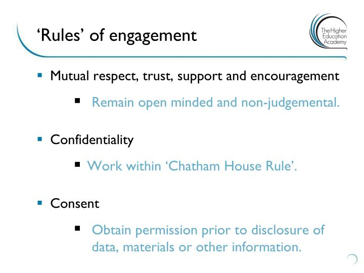 'Rules' of engagement