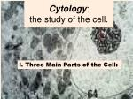 cytology the study of the cell