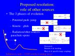 proposed resolution role of other sources
