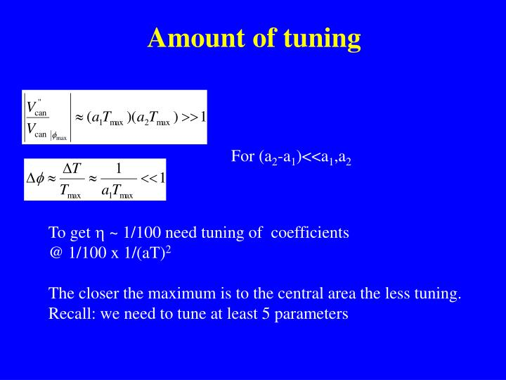 Amount of tuning