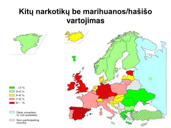Kitų narkotikų be marihuanos/hašišo vartojimas