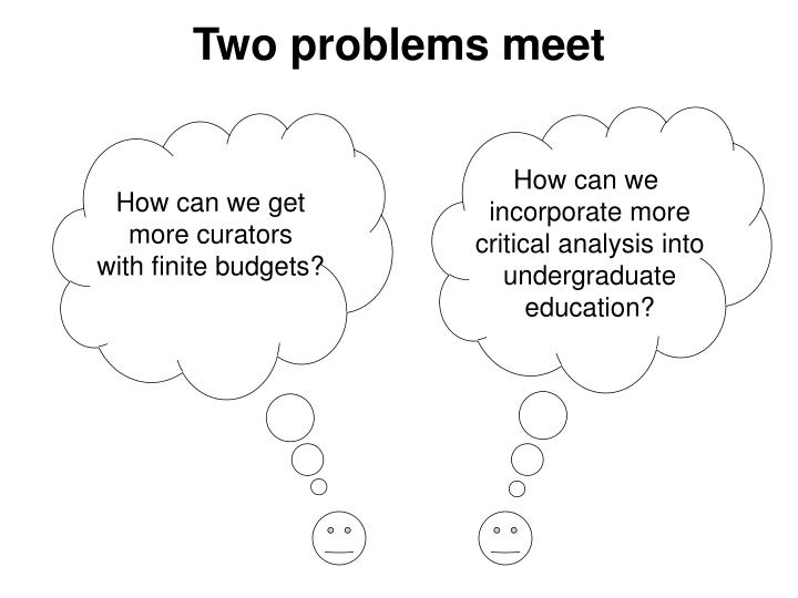 Two problems meet
