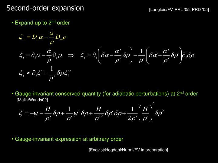 Second-order expansion