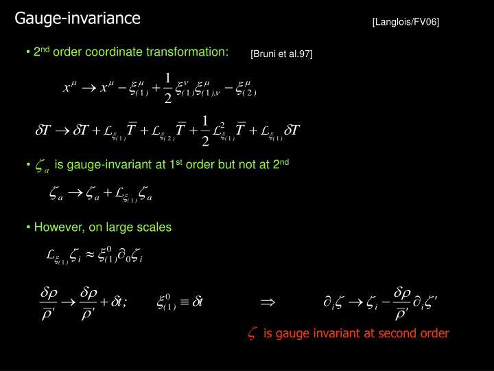 Gauge-invariance