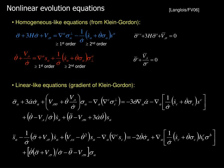 Nonlinear evolution equations