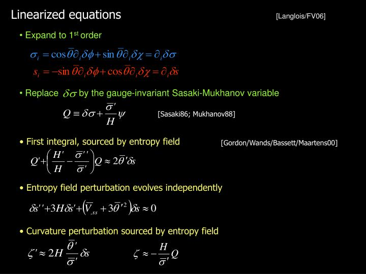 Linearized equations