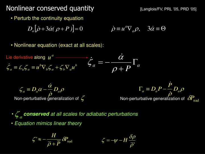 Nonlinear conserved quantity