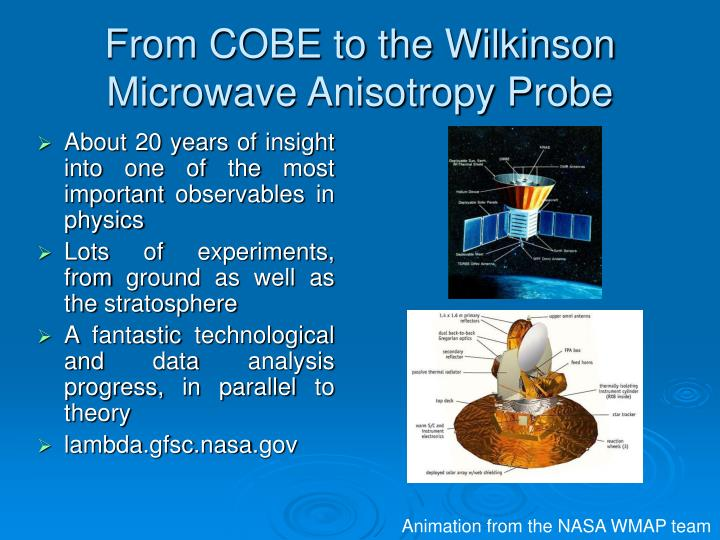 From COBE to the Wilkinson Microwave Anisotropy Probe