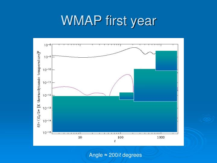 WMAP first year