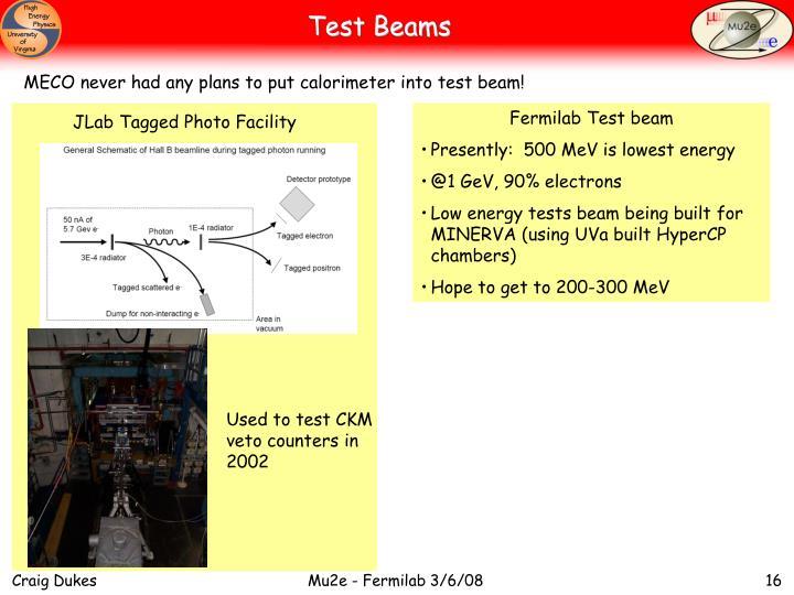 Test Beams