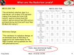 what are the radiation levels