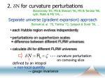 2 dn for curvature perturbations