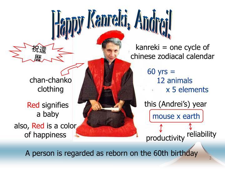 Happy Kanreki, Andrei!