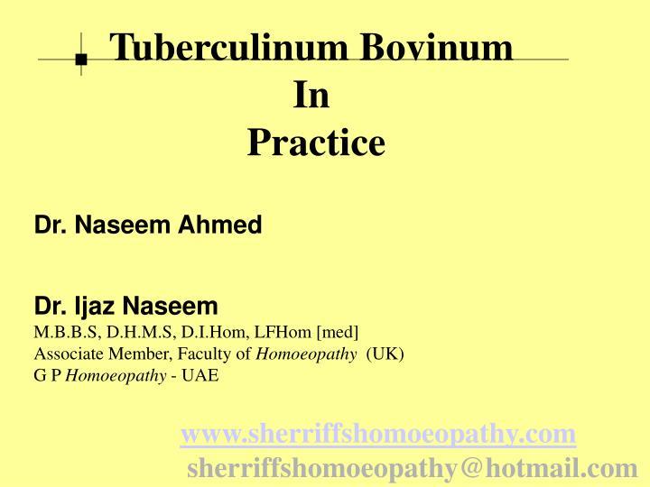 Tuberculinum Bovinum