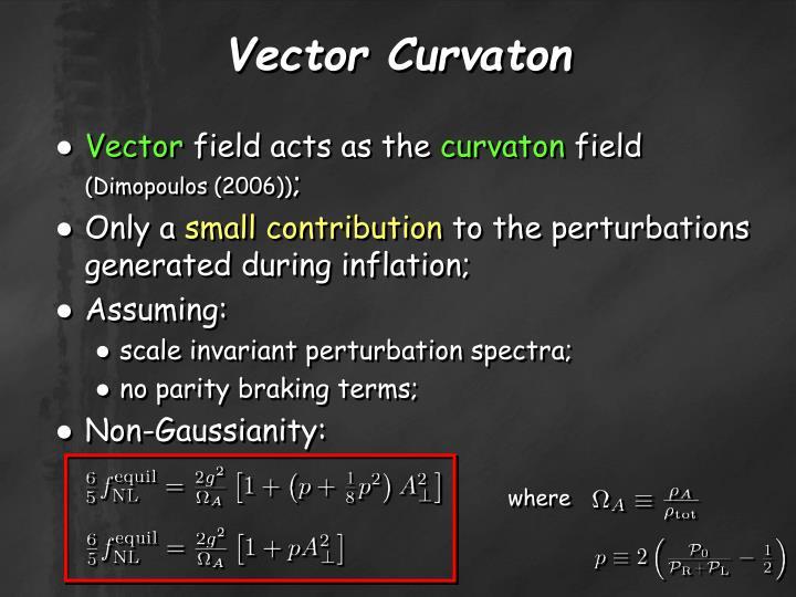 Vector Curvaton