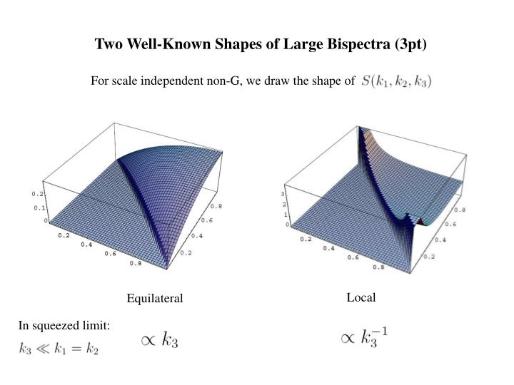 Two Well-Known Shapes of Large Bispectra (3pt)