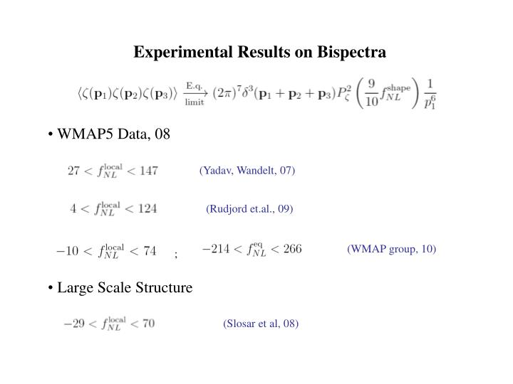 Experimental Results on Bispectra