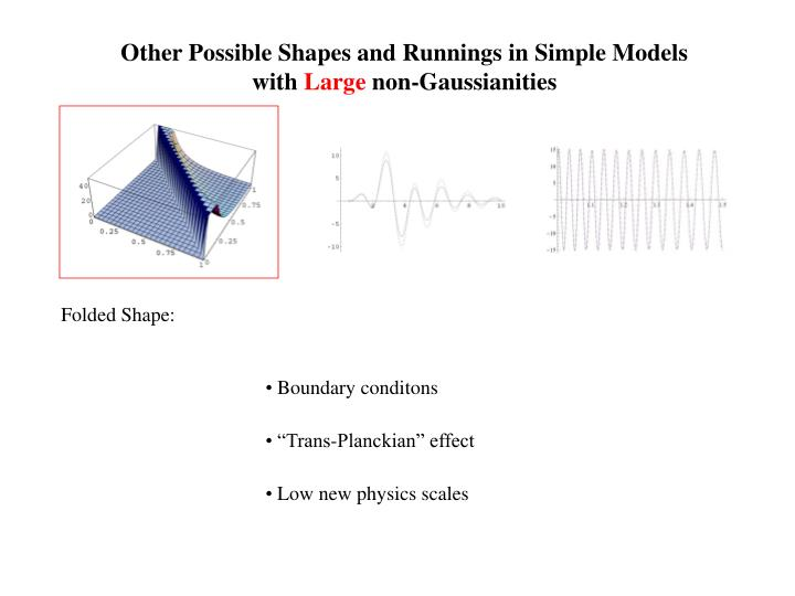 Other Possible Shapes and Runnings in Simple Models