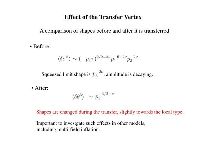 Effect of the Transfer Vertex