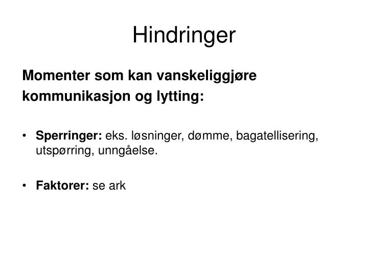 Hindringer