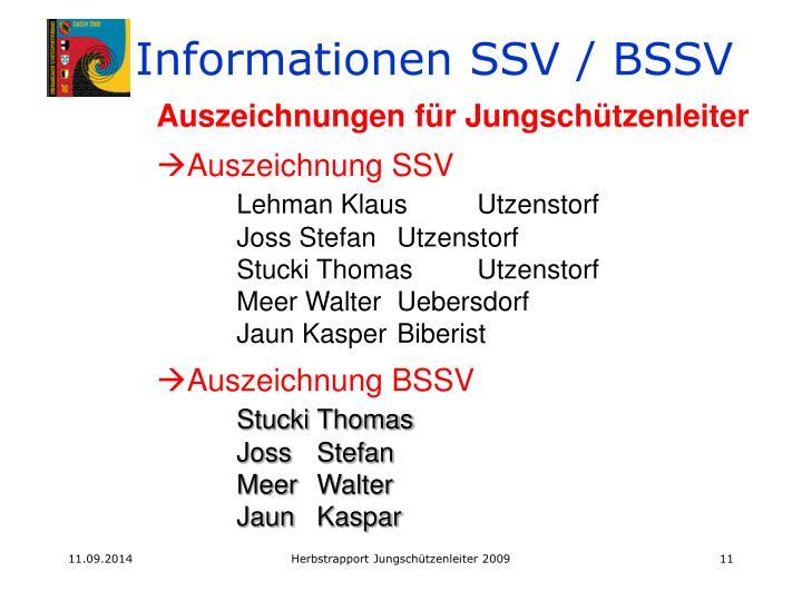 Informationen SSV / BSSV
