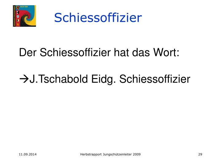 Schiessoffizier