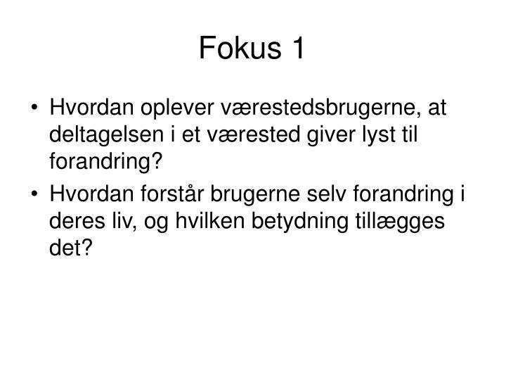 Fokus 1