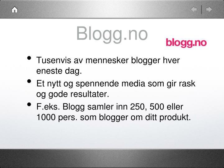 Blogg.no