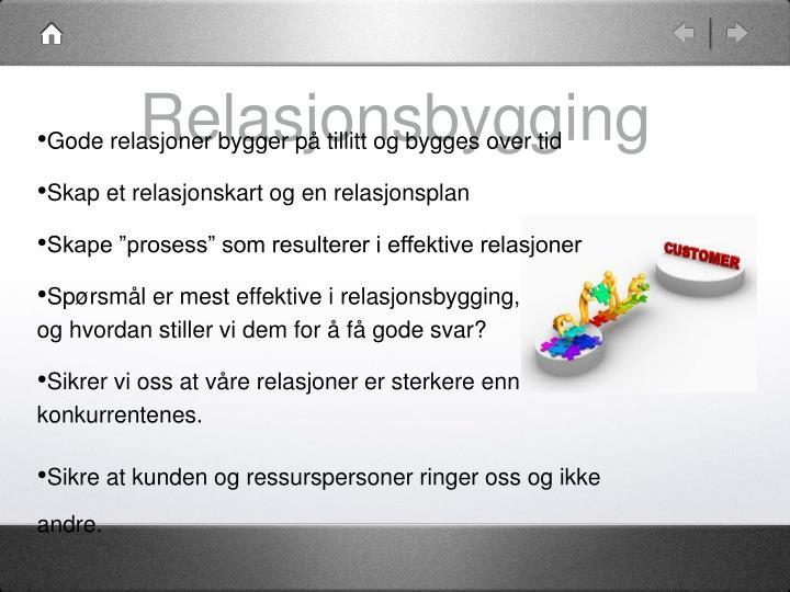 Relasjonsbygging