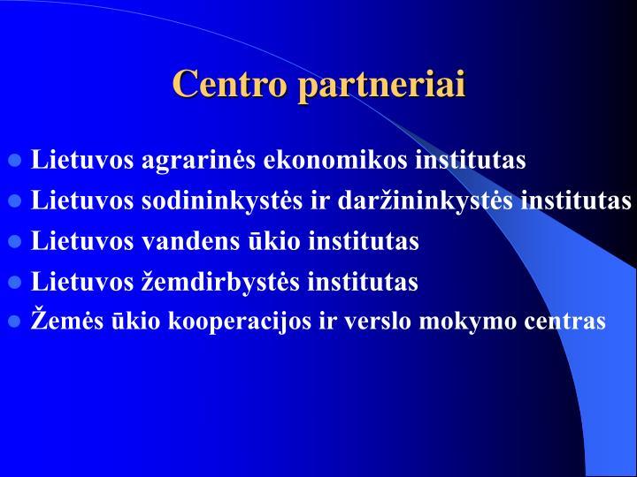 Centro partneriai