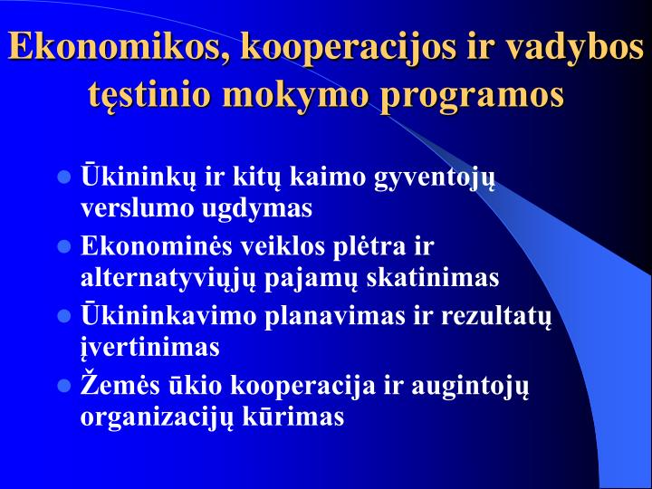 Ekonomikos, kooperacijos ir vadybos