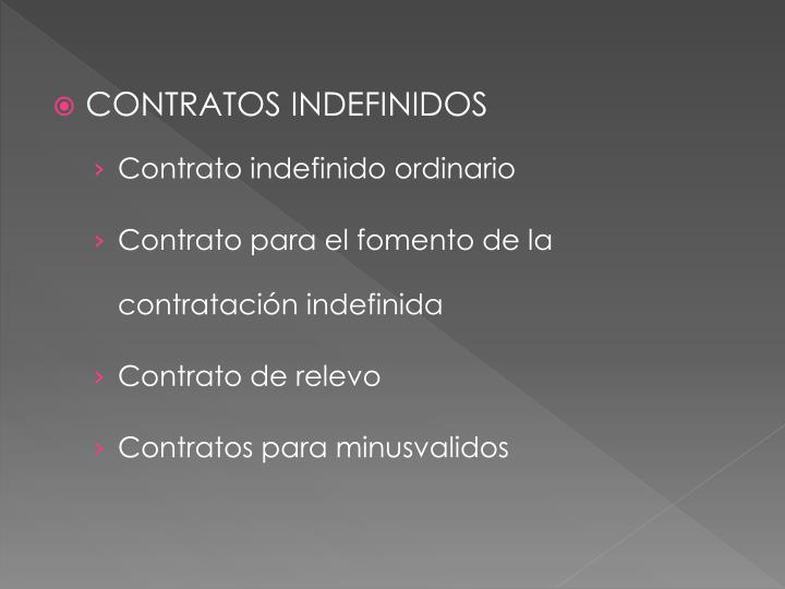 CONTRATOS INDEFINIDOS