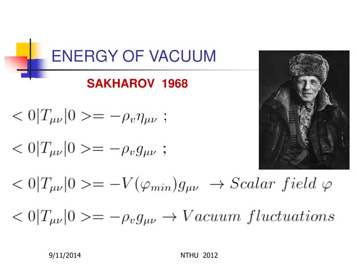 ENERGY OF VACUUM