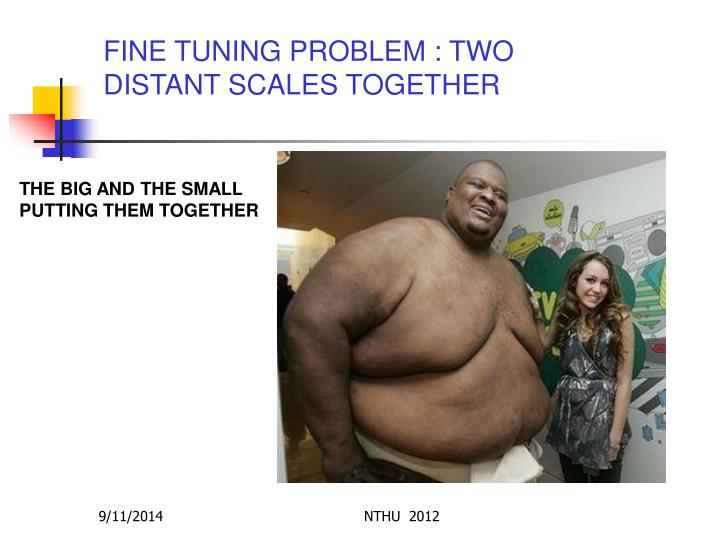 FINE TUNING PROBLEM : TWO